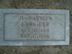 Martha Eugenia Jean <i>Letson</i> Carriger