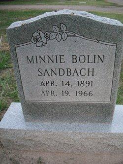 Minnie <i>Bolin</i> Sandbach