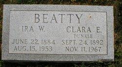 Clara E <i>Dunkle</i> Beatty