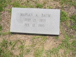 Marion A Baum