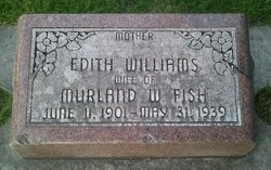 Edith Harriett <i>Williams</i> Fish