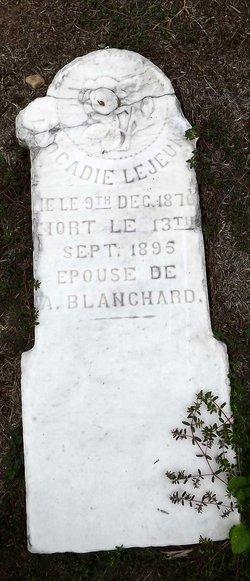 Leocadie <i>LeJeune</i> Blanchard
