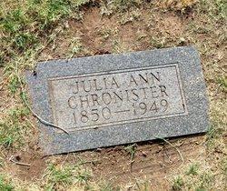 Julia Ann <i>Allred</i> Chronister