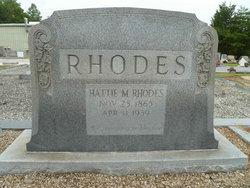 Hattie M Rhodes