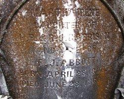 Martha Irene <i>Garrison</i> Abbott