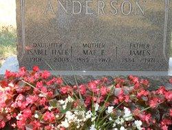 Mamie Alfrerida Mae <i>Wesley</i> Anderson