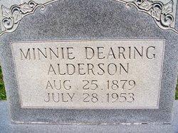 Minnie Ann <i>Dearing</i> Alderson