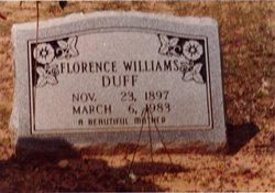 Florence Pansy <i>Williams</i> Duff