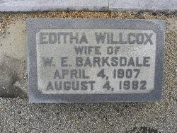 Editha Tyson <i>Willcox</i> Barksdale