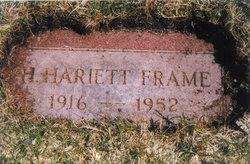 Henrietta Harriette Harriet <i>Stram</i> Frame