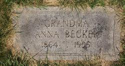 Anna <i>Weins</i> Becker