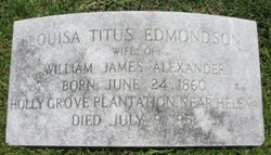 Louisa Titus <i>Edmondson</i> Alexander