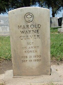 Harold Wayne Culver