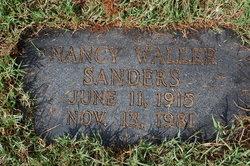 Nancy Isabelle <i>Waller</i> Sanders