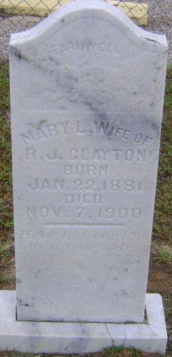 Mary L. <i>Eiland</i> Clayton
