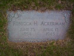 Rebecca Sarah Ellen <i>Hood</i> Ackerman