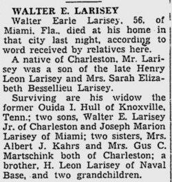 Walter Earl Larisey, Sr