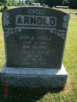 Cora E <i>DePue</i> Arnold