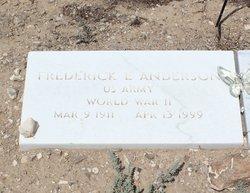 Frederick E Anderson