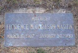 Florence M. <i>Carlson</i> Martin
