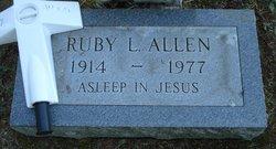 Ruby L Allen