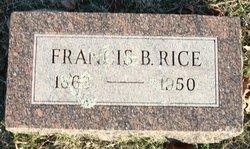 Francis B Rice