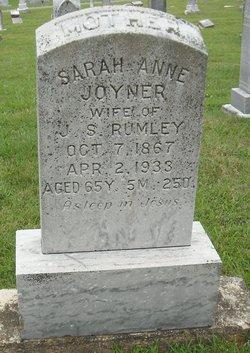 Sarah Ann <i>Joyner</i> Rumley