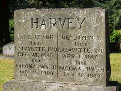 Jane Jennie <i>Clark</i> Harvey