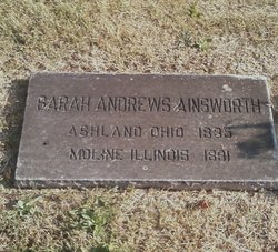 Sarah E. <i>Andrews</i> Ainsworth