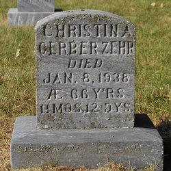 Christina <i>Gerber</i> Zehr