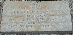 Zemria Max Allen