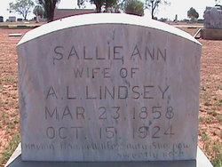 Sally Ann <i>Bennett</i> Lindsey