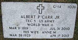 Albert P Carr, Jr