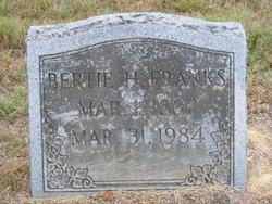Bertie Hazel <i>George</i> Franks
