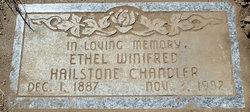 Ethel Winifred <i>Hailstone</i> Chandler