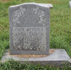 Anna <i>Taylor</i> Golson