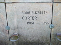 Anna Elizabeth <i>McClung</i> Carter