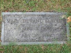 Mary <i>Durant</i> Beadles