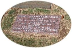 Nancy Marietta Mary <i>Sparks</i> Belshe