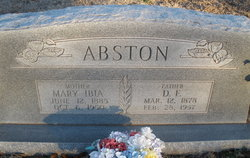 Mary Ibia <i>Robinson</i> Abston