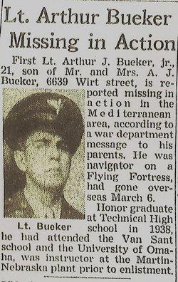 2Lt Arthur J Bueker, Jr