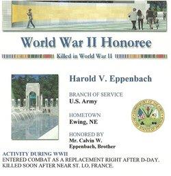 PFC Harold Vincent Eppenbach