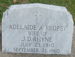 Adelaide <i>Propst</i> Rhyne