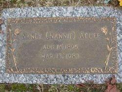 Nancy Nannie <i>Farmer</i> Acuff
