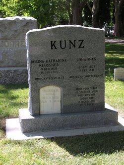 Rosina Katherina <i>Klossner</i> Kunz