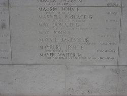 2Lt James S Mayall, Jr