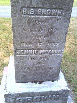 Martha Jane Jennie <i>McKoon</i> Curtis
