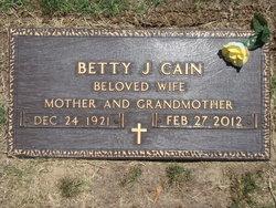 Betty Jane <i>Haley</i> Cain