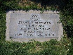Steve E Bowman