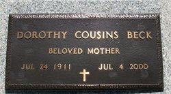 Dorothy Mae <i>Cousins</i> Beck